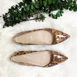 J Crew Animal Print Pointed Toe Flats